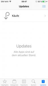 iOS10 AppStore Updates