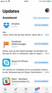 iOS11 AppStore Updates