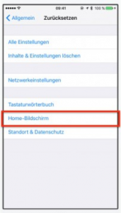 iPhone Bildschirm zurücksetzen