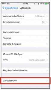 Homescreen zurücksetzen iOS 11