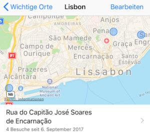 Ortungsdienste iOS